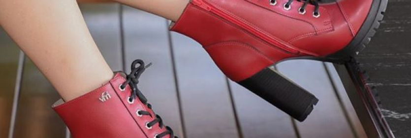 Coturno vermelho é MUST HAVE! ? #boots #redshoes #fashion #trend #fashionshoes #ViaMarte #GarotasdoBrasil #novidade #newin Ref.18-903