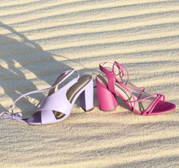 Muita cor para arrasar na primavera que está chegando! ? Qual vai ser a sua queridinha: sandália lilás ou rosa? #ViaMarte #GarotasdoBrasil #novidades #newin #heels Ref. 19-10005 | 19-17906