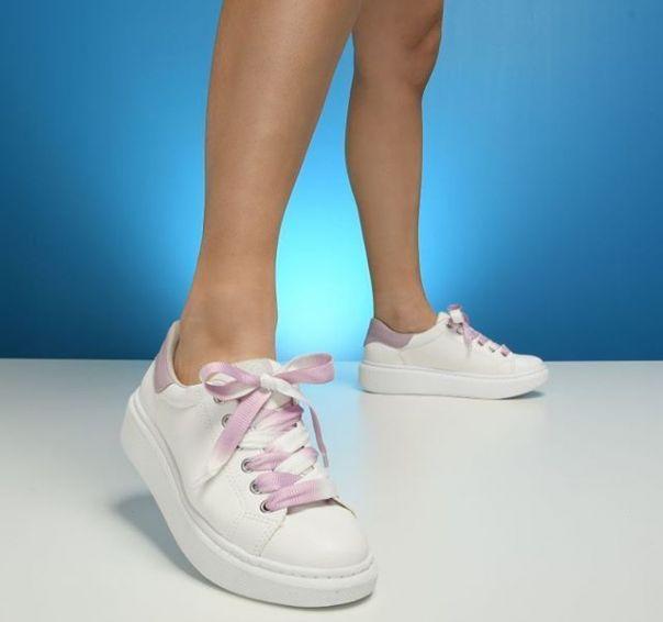 Cadarço tie dye no casual branco é o toque de cor que o seu look precisa! ? #ViaMarte #summershoes #newin #fashionshoes #casual #whitesneaker Ref. 19-15401