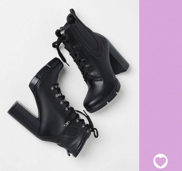 Acerte no presente: namoradas cheias de atitude vão se apaixonar por esses coturnos de saltão. ?? #ViaMarte #DiaDosNamorados #boots #LoveMore Ref. 20-7001 | 20-7004