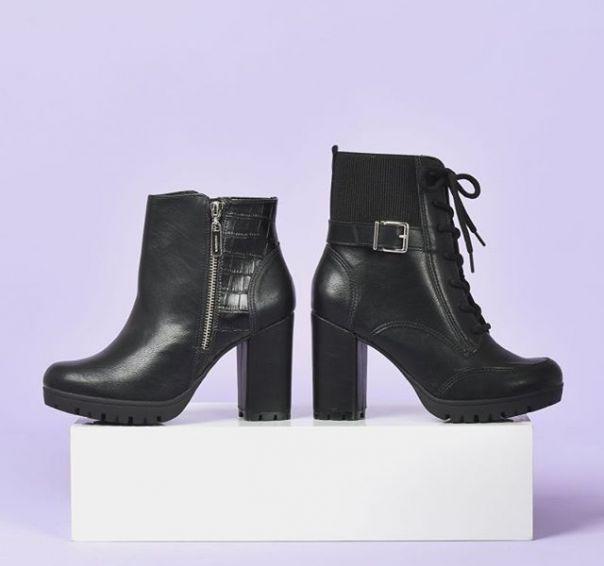 Com ou sem amarração? Qual o seu par perfeito nos dias mais frios? ?? #ViaMarte #boots #moda #coturnos #heels Ref. 20-3604 | 20-3602